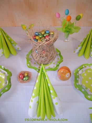 Pasqua decorare la tavola