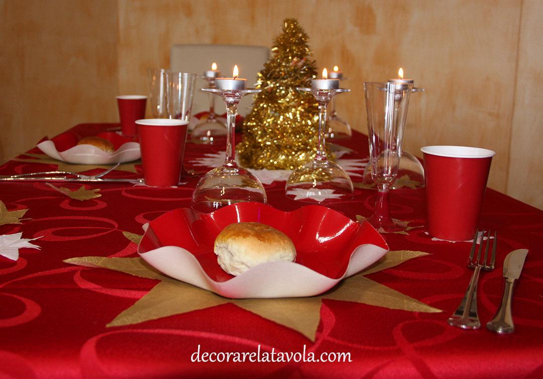 Arredare Tavola Natale decorare tavola di natale con stelle   decorare la tavola
