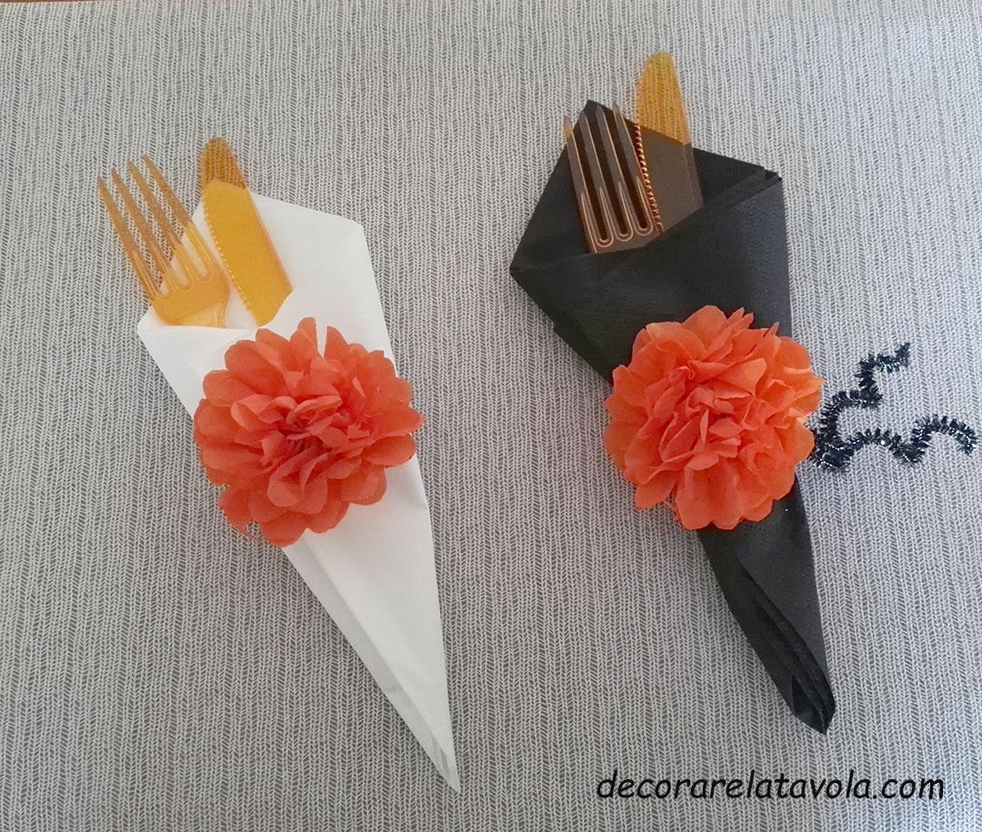 Piegare Tovaglioli Di Carta tutorial portatovagliolo con fiore di carta | decorare la tavola