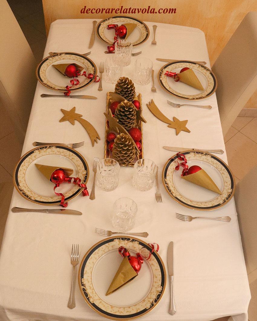 Arredare Tavola Natale tavola-natalizia-con-pigne-e-stelle-01 | decorare la tavola